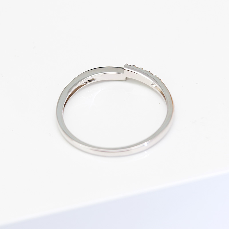 18k gold Natural diamond engagement ring woman custom Gift 10 Diamonds 0.067ct