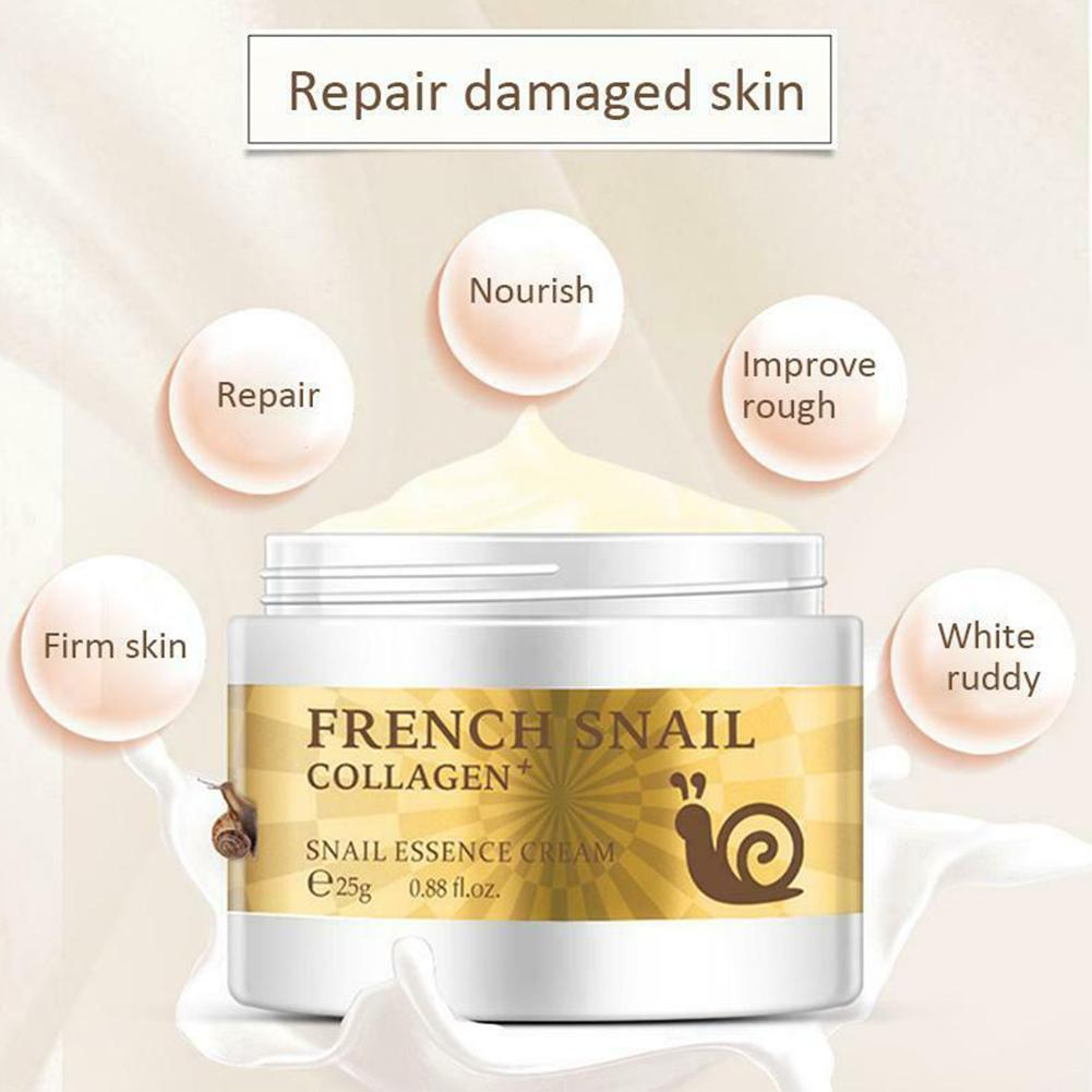 Snail Cream Hyaluronic Acid Moisturizing Anti Wrinkles Anti Aging Nourishing Face Serum Collagen Day Cream Repair Dry Skin Care image