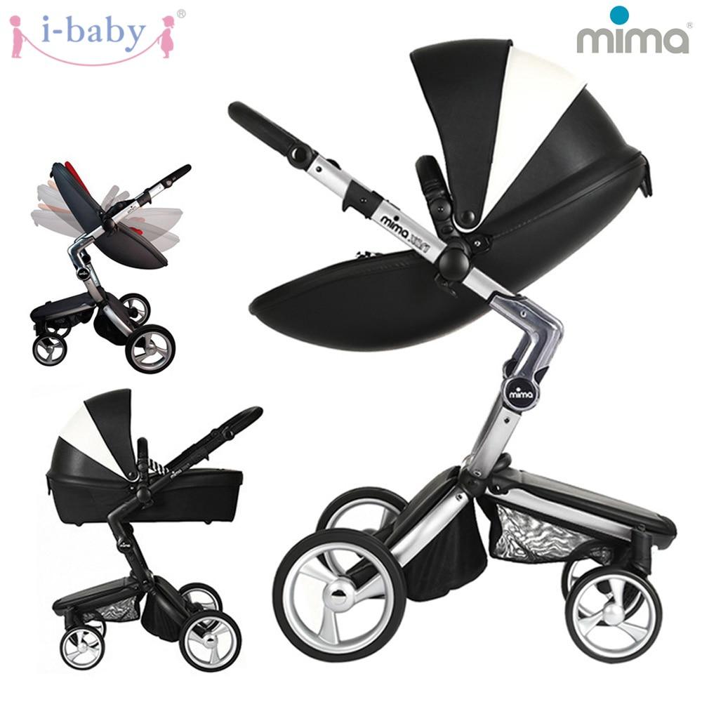 все цены на i-baby Xari Original Mima Baby Stroller Portable Pushchairs Lightweight Baby Pram Foldable kinderwagen онлайн