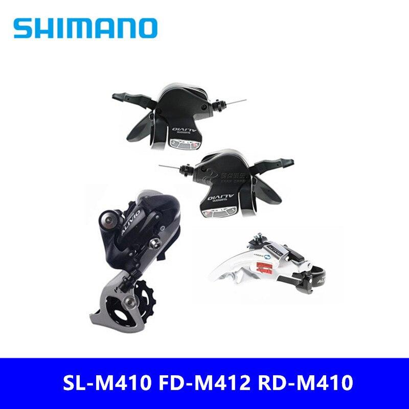 Enthusiastic Original Shimano Alivio Sl-m410 Fd-m412 Rd-m410 Mountain Bike 8/24 Speed Transmission Three-piece 34.9mm/31.8mm Bicycle Derailleur
