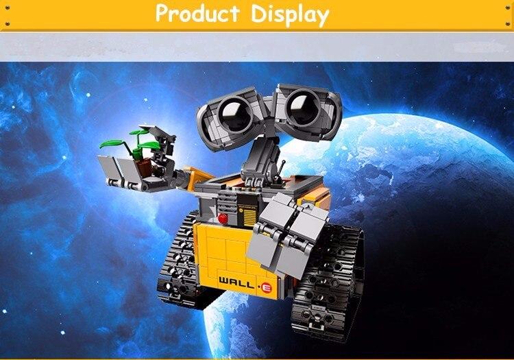 LEPIN 16003 Ideas Robot Wall-e el Último Robot a la izquierda en tierra Modelo Kit de Construcción de Bloque 687 Unids Ladrillos Compatible Con LEPINd 21303