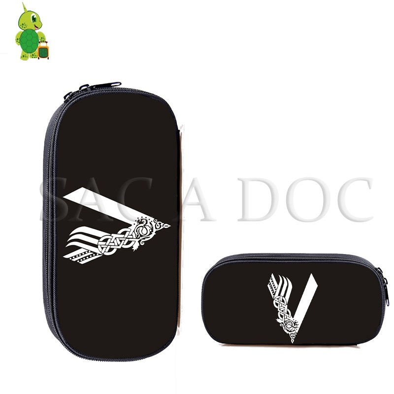 Viking TV Series Cosmetic Cases Stationery Pen Bags Makeup Bag Boys Girls Kids Stationery School Supplies