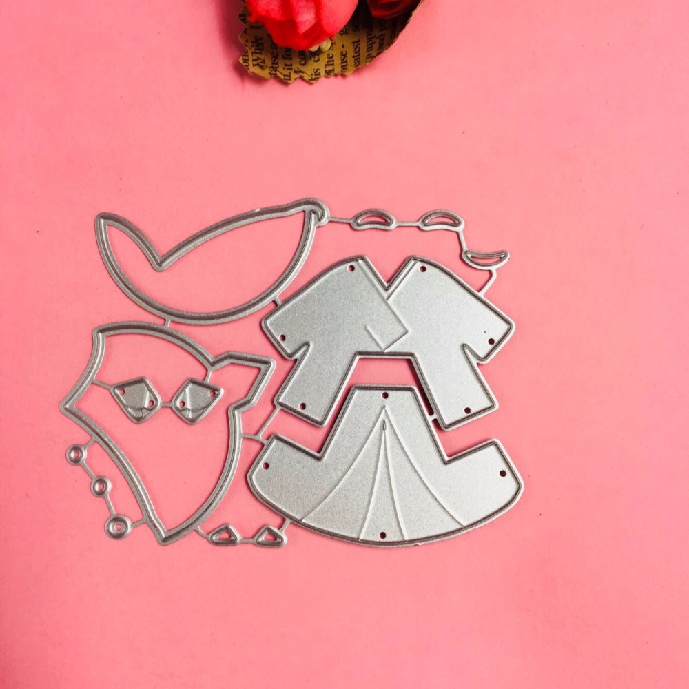 Lovely Boy cutting dies love heart toy doll Scrapbook card paper craft home decoration embossing stencil cutter in Cutting Dies from Home Garden