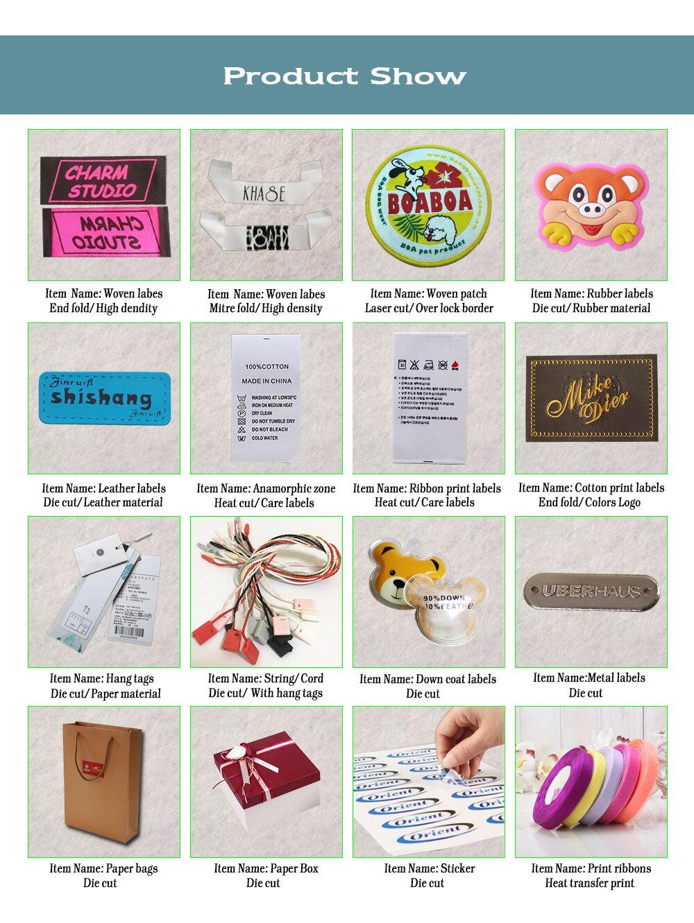 Etiquetas de vestuário