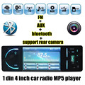 HOT 12V for Rear view camera 4 inch TFT HD Digital Car MP5 Players bluetooth Stereo FM Radios MP4 Audio Video USB TF