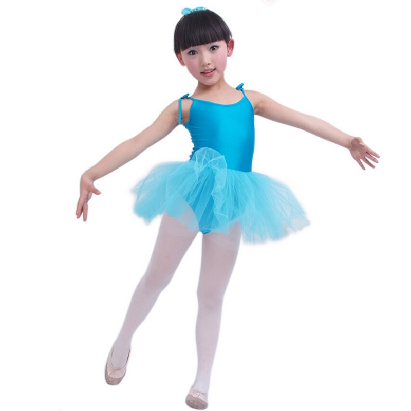Enfants danse Tulle robe jarretelle fille Ballet robe Fitness vêtements Performance porter justaucorps Costume