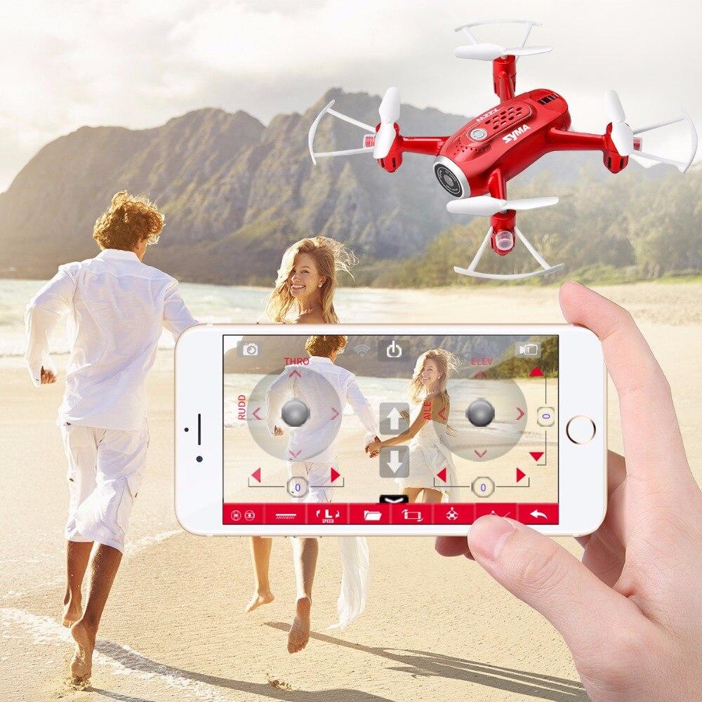 Новейшие дроны X22W с камерой FPV Wifi в реальном времени 2.4GH 4CH Безголовый режим функция зависания RC Квадрокоптер Дрон красный цвет - 2