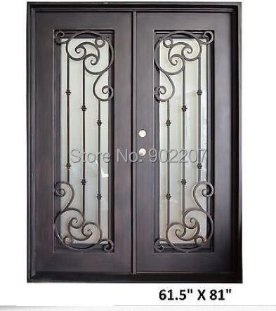Beau fer portes de dépôt à la maison portes en fer