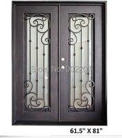 Custom design wrought iron entry door manufacturer model hench ied8