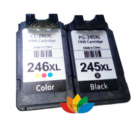 Free Shipping 1 Set PG 245 Black CL 246 Tri Color Ink Cartridge For Canon PG245