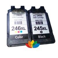 무료 배송 1 set PG-245 블랙 & CL-246 호환 캐논 PG245 CL246 MG2420 MG2520 MG2920 MG2922 용 삼색 잉크 카트리지