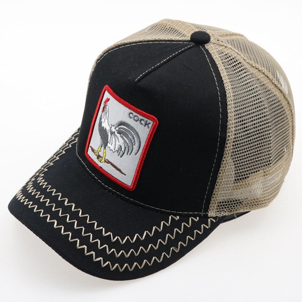 Embroidery Animal Caps Hat Men Baseball Caps Summer Women Sun Hats Fashion Hip Hop Mesh Snapback Caps Gorras Wholesale