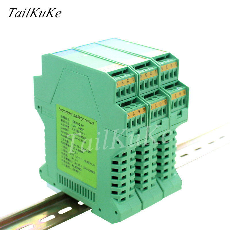 Signal Isolator 4 20mA Safety Gate Current Transmitter for Analog Input Output and Output
