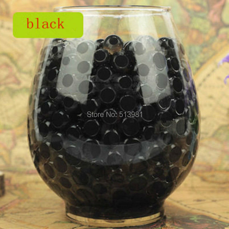 Jelly Ball Decor Amazing Aliexpress  Buy 10000Pcs Dark Black Magic Pearl Vase Filler Inspiration Design