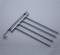 623G Brass Chrome Polished Four Bars Wish The Hook Swivel Holders Towel Bars Rail Rack