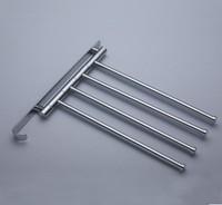 623G Brass Chrome Polished Four Bars Wish The Hook Swivel Holders Towel Bars Rail Rack