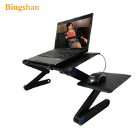 Fold Laptop Table 360 Degree Rolling Portable Notebook Table Stand For Sofa Or Bed To Enjoy