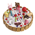New Hot Sale DIY Cake Wooden Miniature Birthday Cake Toy for Children Kids Educational Classic Baby Toy Gift Kitchen Food Girl