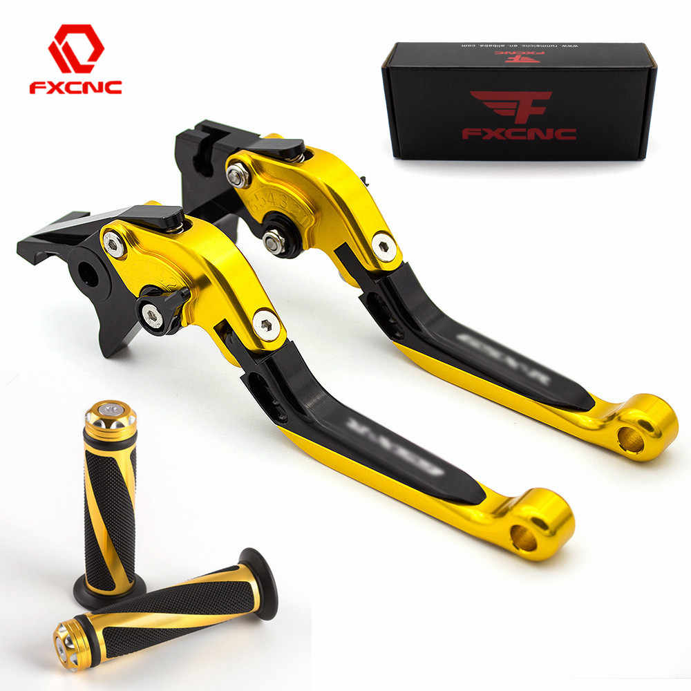 Logo YZF R6 For Yamaha YZF R6 2005-2016 2006 2007 2008 CNC Folding Extendable Motorcycle Brake Clutch Lever + Handle Grips