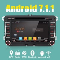 Bosion 2 Din Gps Quad Core Android 7 1 Car Dvd Player TV For VW Skoda