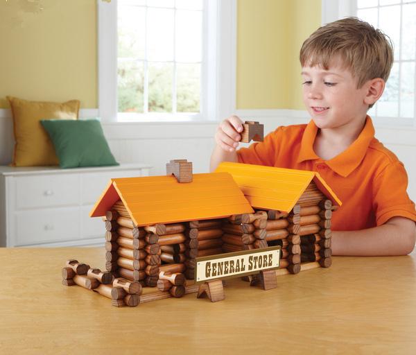 Juguetes para niños jugar a las casitas de cabina diy casa hechos a mano regalo de cumpleaños bloques de construcción de juguete de cabañas