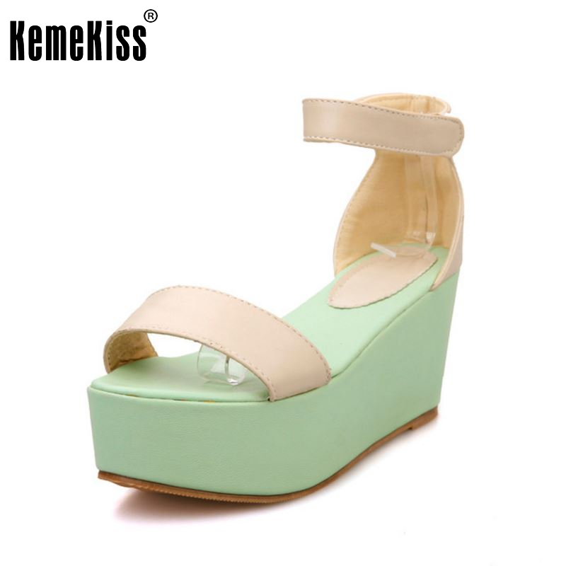 women wedges platform high heel sandals spring party summer sexy fashion ladies heeled footwear heels shoes size 32-43 P17962 women peep toe ankle strap platform high heel sandals summer sexy fashion ladies heeled footwear heels shoes size 34 39 p16703