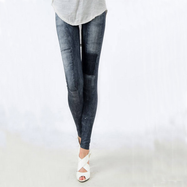 Women's Denim Leggings,Thin Jeans, Casual Denim Leggings 9