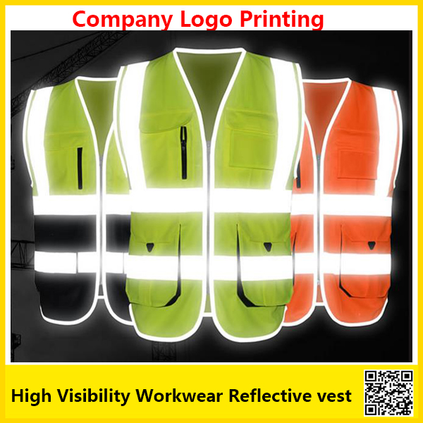 SFvest High visibility reflective safety vest  work unifroms workwear safety vest with company logo printing free shipping ccgk safety clothing reflective high visibility tops tee quick drying short sleeve working clothes fluorescent yellow workwear