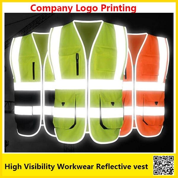 imágenes para SFvest unifroms trabajo ropa de trabajo de Alta visibilidad chaleco reflectante de seguridad chaleco de seguridad con logotipo de la empresa de impresión envío gratis