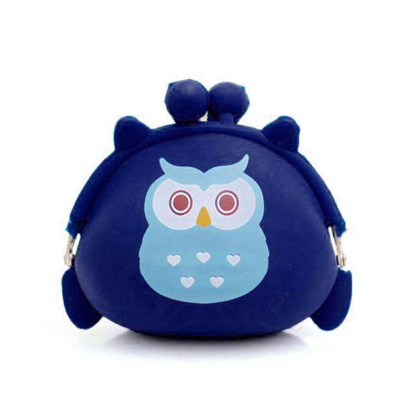 New Fashion Women Wallet Owl Silicone Jelly Coin Wallet Lovely Style Change Bag Key Pouch Coin Purse 2017 Hot Sale High Quality