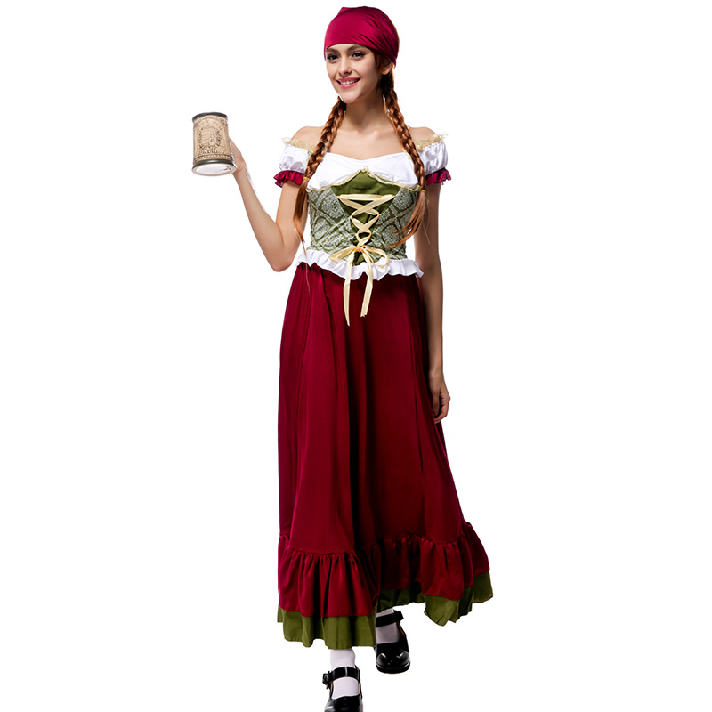 Traje Nacional Tradicional bávaro Dama Oktoberfest Cerveza Maid - Disfraces - foto 2