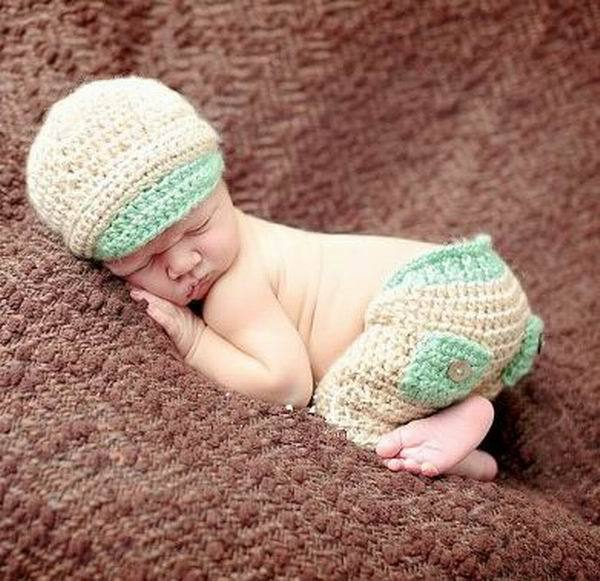ef44c93eeaf 2017 Baseball Hat Short Trousers Newborn Baby photography Props Make  Photoes Costume Knitted Beanie Cotton Crochet Hat Caps-in Hats   Caps from  Mother ...