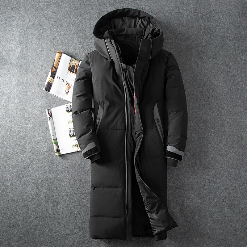 New arrival White Duck   Down   Jacket Men Autumn Winter Warm Hooded   Coat   Men's Ultralight Duck   Down   Jacket Windproof Parka 8013#