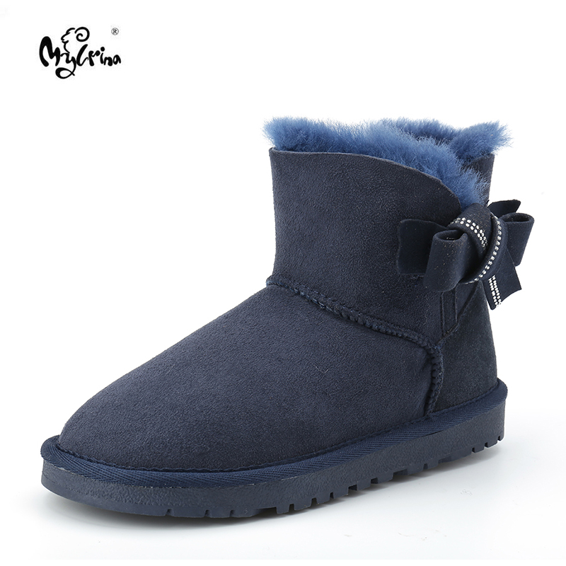 High Quality Snow Boots Women Fashion Genuine Sheepskin Leather Australia Classic Women's Ankle Boots Winter Women Snow Shoes 2016 hot sale women australia snow boots fashion ankle boots 100