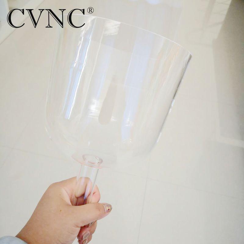 CVNC 528 Гц прозрачный кристалл пение перезвон или кристалл поющая чаша с ручкой для тела хит Исцеление дух душа терапевт