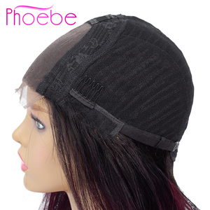 Image 4 - Phoebe 1b/27 4x4 스트레이트 옹 브르 레이스 클로저 가발 브라질 100% 인간의 머리카락 가발 흑인 여성을위한 비 레미 150% 밀도 낮은 비율