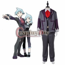Custom Made Anime Pokemon Cosplay Costume Steven Stone School Uniform Outfit Suit Halloween Costume D0506