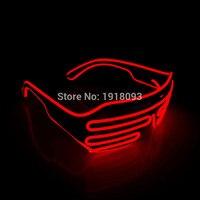 2017 Trendy 100 Pz/lotto NEW Attraente Lampeggiante Striscia del LED shutter Glasses Luminoso Colorato Incandescente EL wire Occhiali