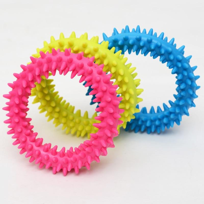 Valp Dental Tänder Tugga Bita Ring Spela Leksak Flerfärgad Hund - Produkter för djur