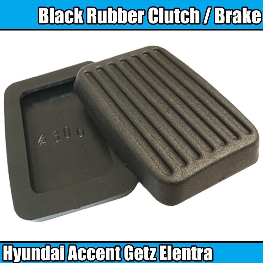 2x For Hyundai Accent Getz Elentra Excel Scoupe Brake Clutch Pedal Pad Rubbers