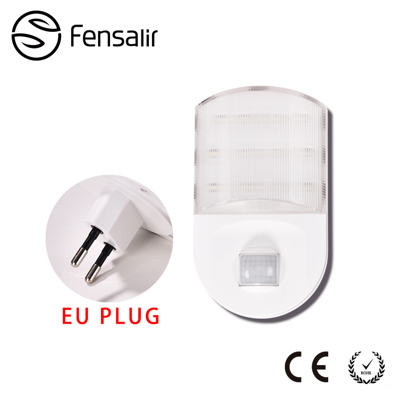 Latest Fensalir 0 6W AC220V Eu Plug LED Night light Motion Sensor lamp with PIR light Bookcase Showcase Wireless Wall AA Battery SNL03 in LED Night Lights from Top Design - Fresh led motion sensor Amazing