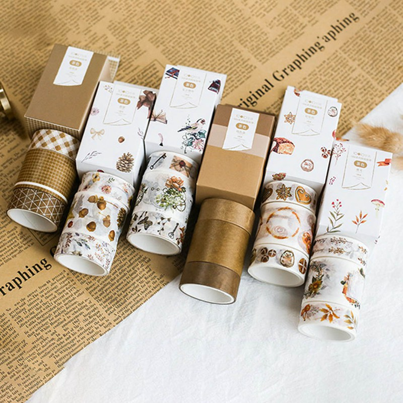3 Pcs/pack Small Fresh Decorative Washi Tape Set DIY Scrapbooking Masking Tape School Office Supply Escolar Papelaria