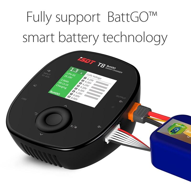 ISDT T8 BattGo 1000 W 30A chargeur intelligent d'équilibre de batterie pour RC voiture avion Drone de course hélicoptère 1-8 S Lipo batterie