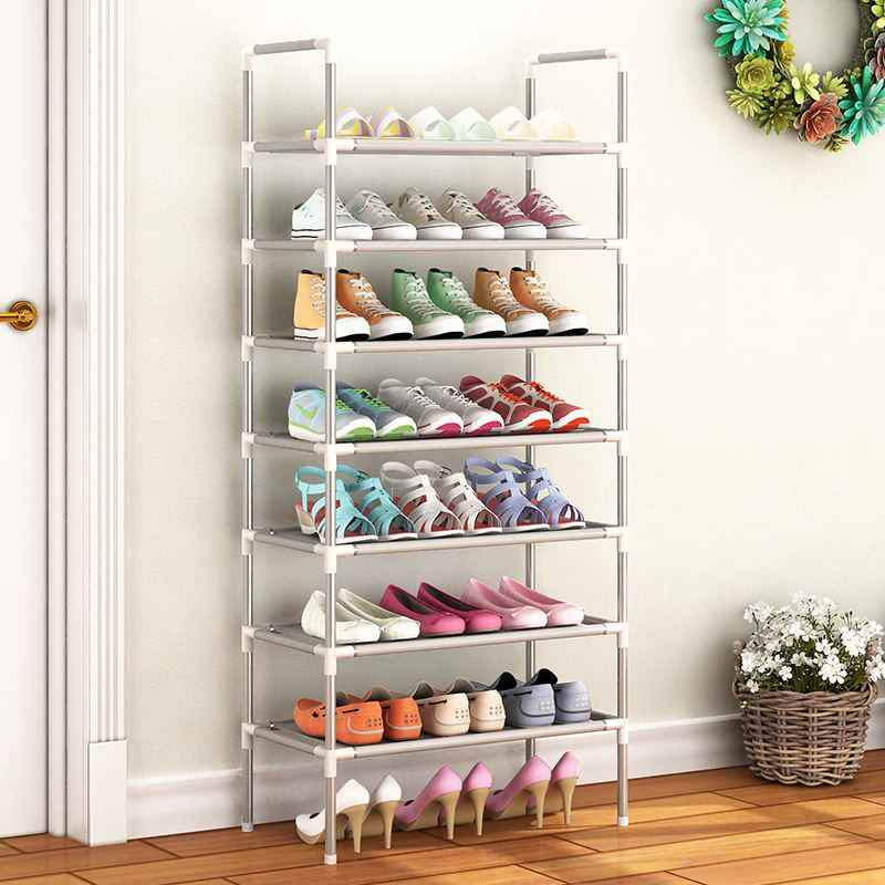 Multifungsi 2-7 Tingkat Rak Sepatu Rak Besar Stackable Rak Memegang Rak untuk Sepatu Buku Rumah Penyimpanan Organizer