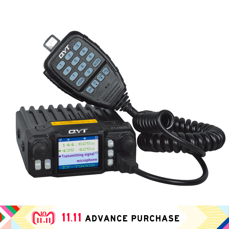 qyt kt-7900D tetra car radio station walkie talkie speakers comunicador intercom uv hunting 10 km column image