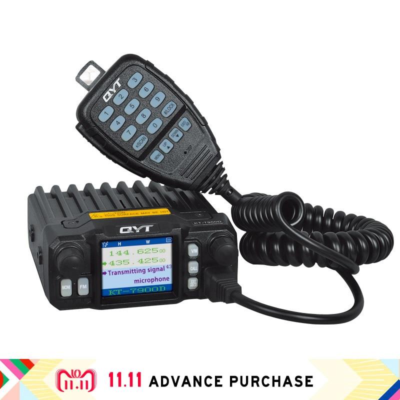 Qyt Kt-7900D Tetra Car Radio Station Walkie Talkie Speakers Comunicador Intercom Uv Hunting 10 Km Column