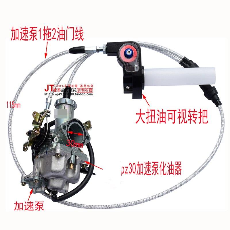 Gasgriff Kei Hin 30mm Irbis Ttr250 Cg250 Motorrad Dirt Bike Cg Beschleunigung Pumpe Vergaser Visiable Twister Dual Kabel