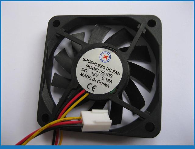 1 x Brushless DC Fan 11 Klinge 12 V 6010 3 Draht 60x60x10 in 1 x ...
