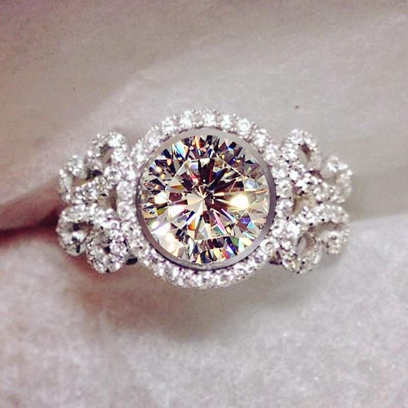 Choucong conception de marque femmes bijoux de mode 5A Zircon Cz 925 en argent Sterling bague de fiançailles de mariage Sz 5-11