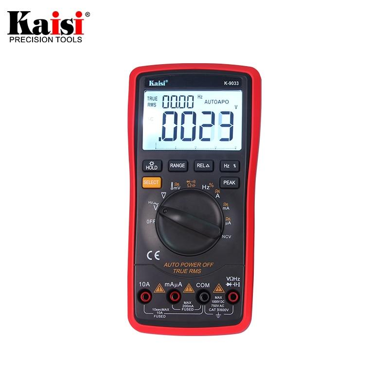 Kaisi 20000 count High precision automatic measuring range digital multimeter true RMS digital capacitor temperature measurement kaisi ks 3021b crv 21 pieces in 1 precision tools